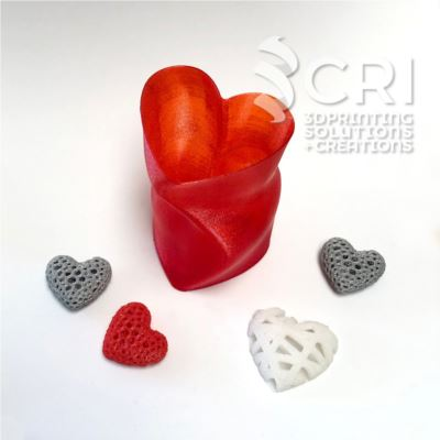 Portapenne cuore stampa 3d