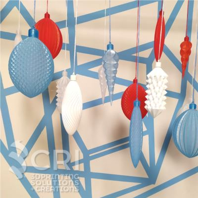 Set Palline decorative 3D  stampa 3d